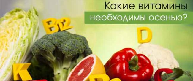 Необходимые для организма витамины осенью и зимой
